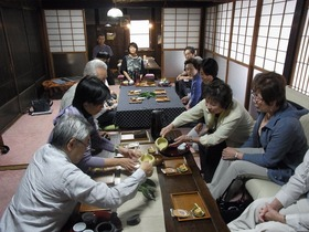 静岡本山茶と折戸ナス、家康公のご所望品をいただく